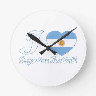 argentine football designs round clock