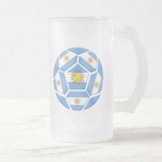 Argentine futebol Tees and soccer ball gear Frosted Glass Beer Mug