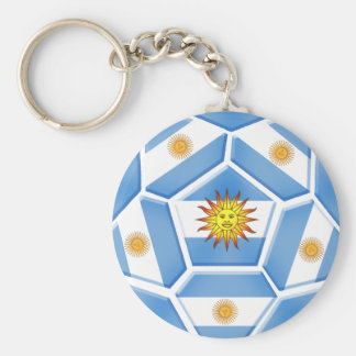 Argentine futebol Tees and soccer ball gear Key Chain
