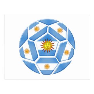 Argentine futebol Tees and soccer ball gear Postcard