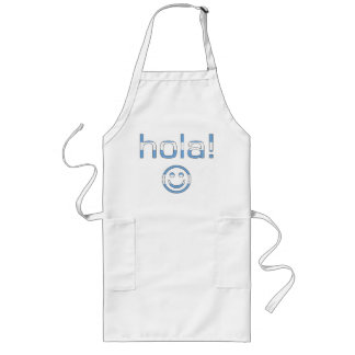 Argentine Gifts : Hello / Hola + Smiley Face Long Apron