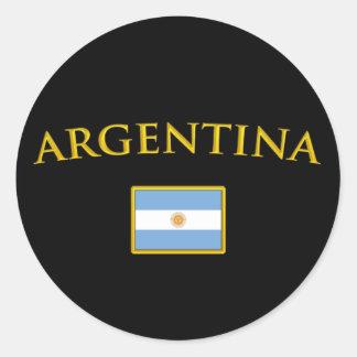 Argentine Gold Classic Round Sticker