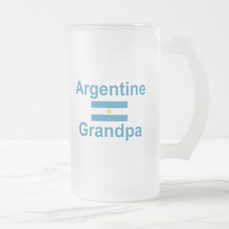 Argentine Grandpa Frosted Glass Beer Mug