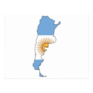 Argentine Map Postcard
