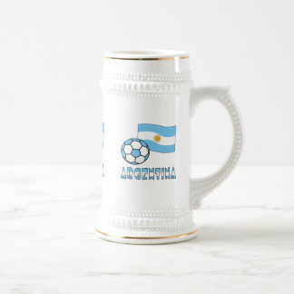 Argentine Soccer Ball and Flag Beer Stein