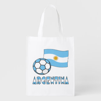 Argentine Soccer Ball and Flag Market Totes