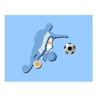 Argentine Soccer player of Argentina Futbol gifts Postcard