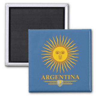 """Argentine Sun"" 2 Inch Square Magnet"