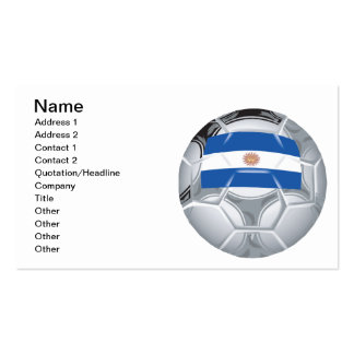 Argentinean Soccer Ball Business Card