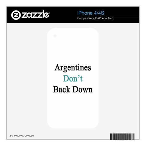 Argentines Don't Back Down iPhone 4S Decal