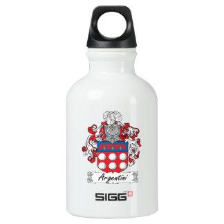 Argentini Family Crest Aluminum Water Bottle
