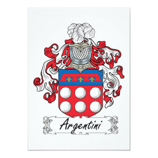 Argentini Family Crest Card