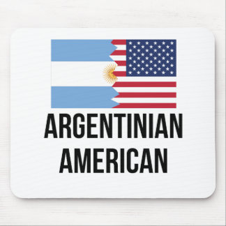 Argentinian American Flag Mouse Pad