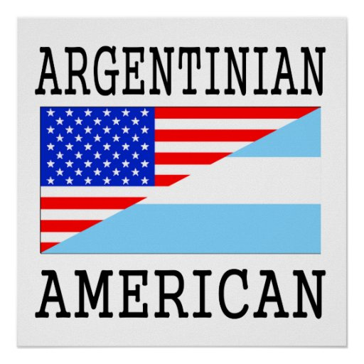 Argentinian American Flag Poster
