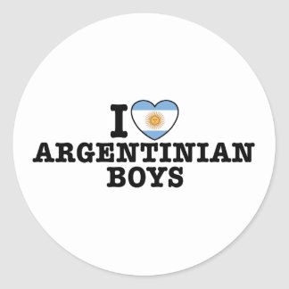 Argentinian Boys Classic Round Sticker