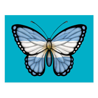 Argentinian Butterfly Flag Postcard