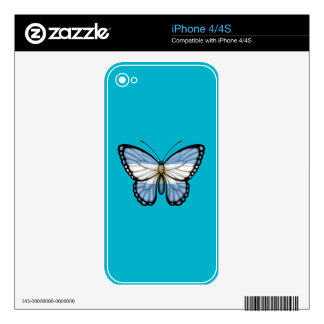 Argentinian Butterfly Flag Decal For iPhone 4S