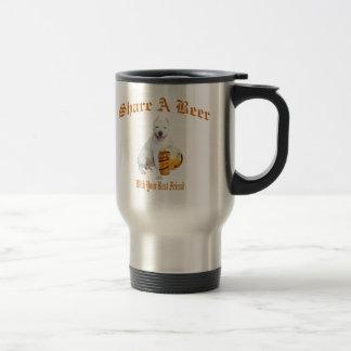 Argentinian Dogo Shares Beer Travel Mug