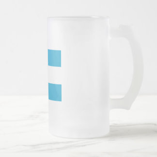 Argentinian flag frosted glass beer mug