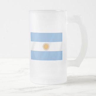 Argentinian flag of Argentina Albicelestes Gifts Frosted Glass Beer Mug