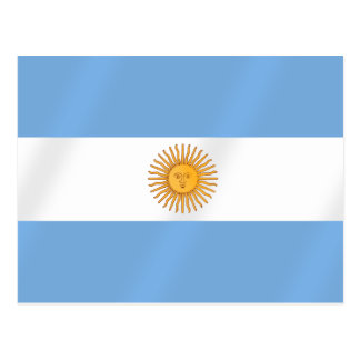 Argentinian flag of Argentina Albicelestes Gifts Postcard