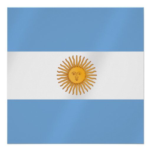 Argentinian flag of Argentina Albicelestes Gifts Poster