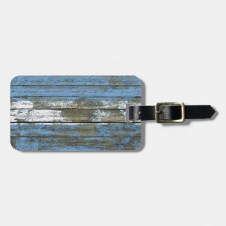 Argentinian Flag on Rough Wood Boards Effect Travel Bag Tags