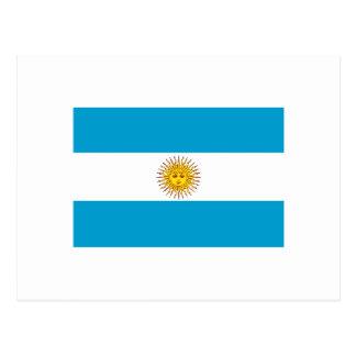 Argentinian flag postcard