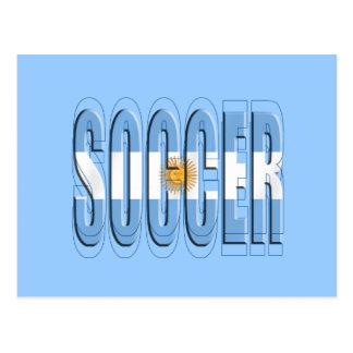 Argentinian flag Soccer Worded logo futbol gifts Postcard