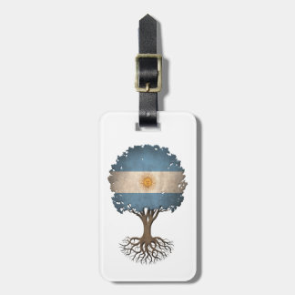 Argentinian Flag Tree of Life Customizable Bag Tags