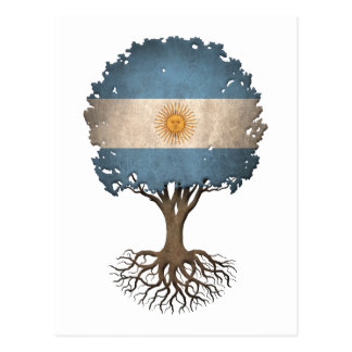Argentinian Flag Tree of Life Customizable Postcard