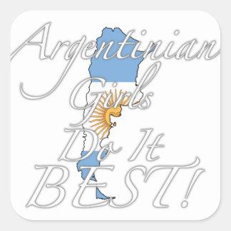 Argentinian Girls Do It Best! Square Sticker