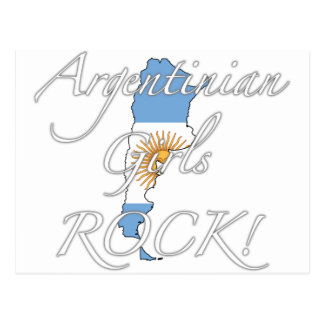 Argentinian Girls Rock! Postcard