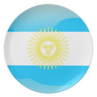 Argentinian glossy flag melamine plate