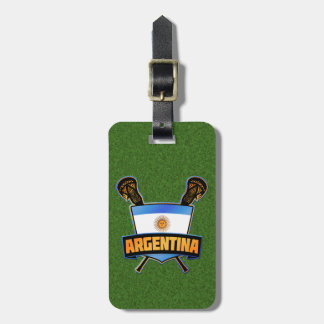 Argentinian Lacrosse Luggage Tag Template
