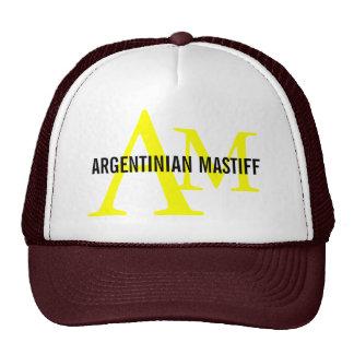 Argentinian Mastiff Breed Monogram Design Trucker Hat