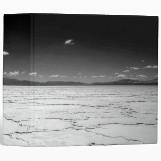 Argentinian Salt Flats Desert And Mountains 3 Ring Binder