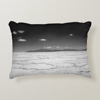 Argentinian Salt Flats Desert And Mountains Accent Pillow