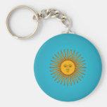 Argentinian Sol de Mayo Keychain
