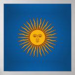 Argentinian Sol de Mayo Poster