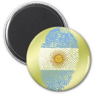 Argentinian touch fingerprint flag 2 inch round magnet