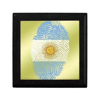 Argentinian touch fingerprint flag keepsake box