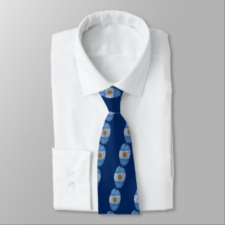 Argentinian touch fingerprint flag neck tie