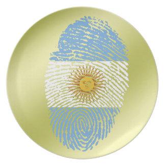Argentinian touch fingerprint flag plate