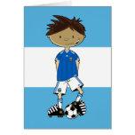 Argentinian World Cup Soccer Boy Card