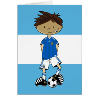 Argentinian World Cup Soccer Boy Card