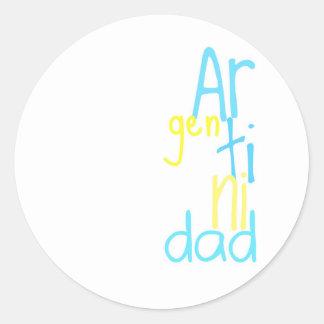 Argentinidad Round Stickers