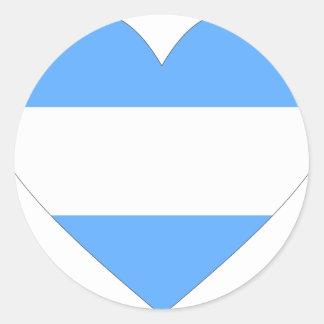 argentinien pegatina redonda
