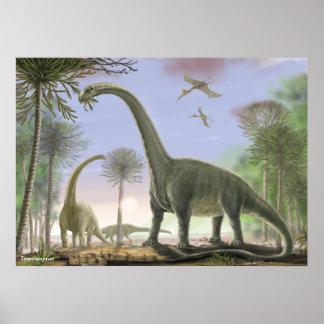 Argentinosaurus de Titanosaur Póster