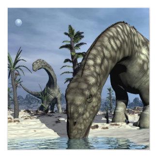 Argentinosaurus dinosaur drinking card